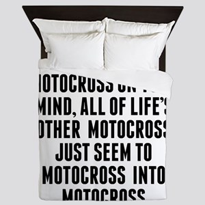 Motocross On Your Mind Queen Duvet